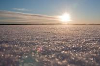 Sjö med snö